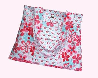 Handbag Sewing Pattern PN304 Pleated Sweetheart Bag PDF Download