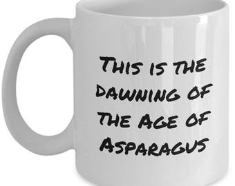 Funny Coffee Mug - Mistaken or Misheard Lyrics - Age Of Asparagus - Hair Musical Parody - 60s Music Fans Gift