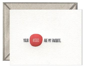Your Kisses letterpress card