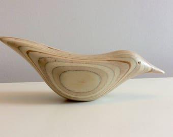 Carved Wooden Bird. Nuthatch.