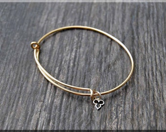 14k Gold Filled Expandable Bangle Bracelet, Adjustable Bangle, Smooth Gold Bracelet, Gold Filled, Charm Jewelry, Yellow Gold Bracelet