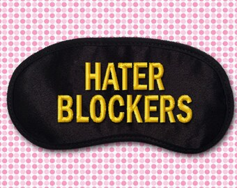 Hater Blockers Embroidered Eye Mask - favorite on pinterest tumblr instagram polyvore