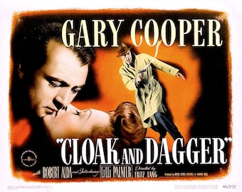"Lobby Card From the Film ""Cloak and Dagger"" Starring Gary Cooper (Reproduction) - 8X10 or 11X14 Photo (MP-009)"