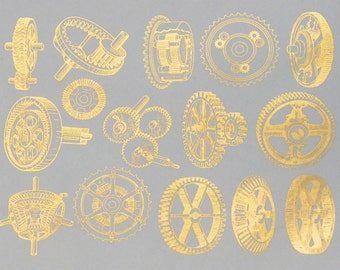 Gears Ceramic Decals, Glass Decals or Enamel Decals
