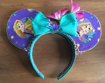Hand Made Tangled Rapunzel Mickey Mouse Ears