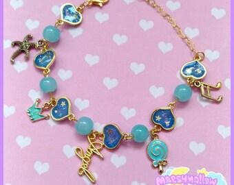 Heart bracelet cute and kawaii lolita style blue