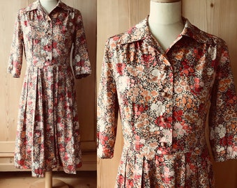 1960s cotton floral day dress