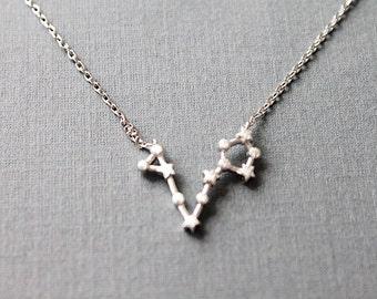 Pisces Constellation Necklace Pisces Necklace  Zodiac Pisces Pendant Necklace Constellation Jewelry,