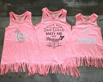 Flamingo Fringe Dress