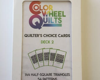 Quilter's Choice Cards (Half Square Triangles) - DECK 2