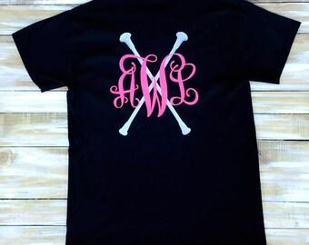 Custom Baton Twirling Monogram Vinyl Shirt