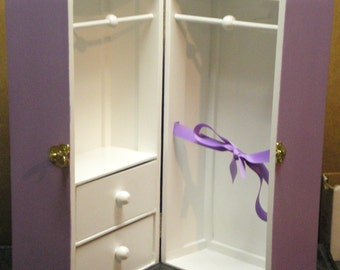 """2 Color 2-Drawer-Ribbon 18"""" Doll Trunk"""