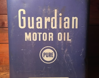Vintage PURE - Guardian Motor Oil Can