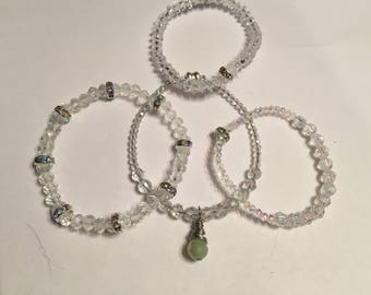 Sale!!Clear crystal Anklet