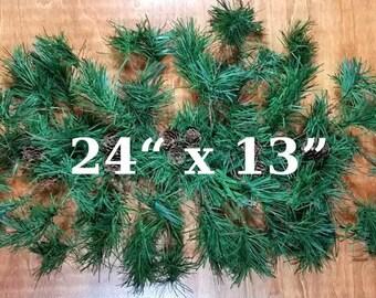 "Faux Pine Swag Christmas Decor Christmas Swag DIY Swag 24"" Swag with Pine Cones"