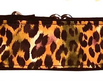 "Leopard Print 2""  Martingale Collar-"