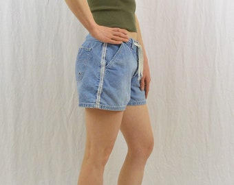 Vintage Side Striped Shorts, Size Small-Medium, Grunge, 90's Clothing, On Trend, Sporty Shorts