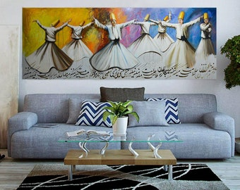 SAMA dance original oil painting _ Persian art _ horizontal & Persian art | Etsy