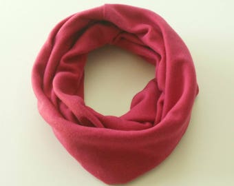 Hot Pink Toddler Infinity Scarf, Child Infinity Scarf, Kid Infinity Scarf, Loop Scarf, Tube Scarf, Circle Scarf, Drool Scarf Bib