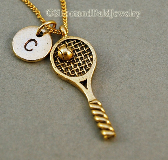 Tennis necklace tennis racket necklace tennis ball tennis like this item mozeypictures Gallery