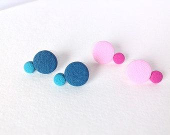Polymer Clay Earrings , Fashion , Everyday earrings , Stud  Earrings , Round Earrings , Contemporary earrings, Minimalist earrings
