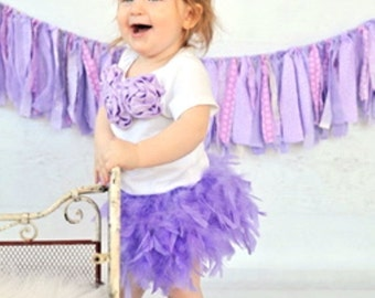 Lavender 1st Birthday Outfit, Lavender Feather Bloomer, Bodysuit & Headband, Easter 1st Birthday, Feather Tutu, Egg Hunt Outfit, 1st Easter