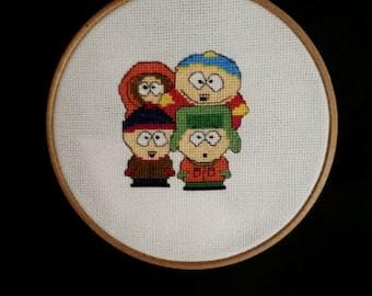 South Park Cross Stitch Pattern, Digital Download