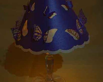 SVG PDF Butterfly cut out wine glass lampshade Digital download