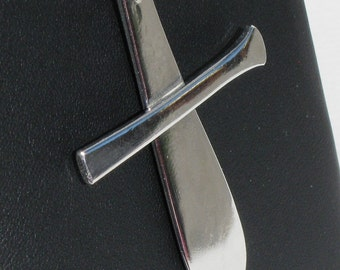 Sterling Silver Spoon Handle Cross - 1895 Pointed Antique by Dominick & Haff