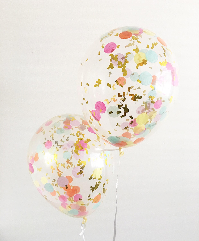 Rainbow Confetti Balloons Confetti Balloons Smash Cake Props # Muebles Rainbow