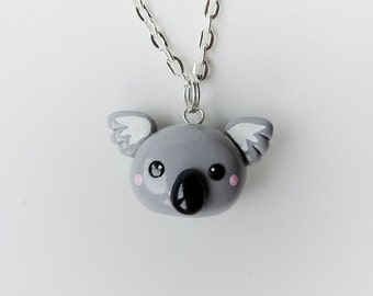 Kawaii Koala Necklace Polymer Clay Animal Jewelry