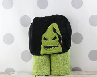 Toddler Oogie-Boogie Hooded Towel - Baby Oogie-Boogie Towel for Bath, Beach, or Swimming Pool - Toddler Towel - Great Christmas Gift Idea!