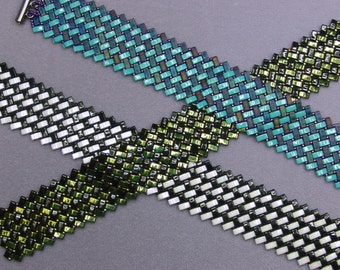 Herringbone with Half Tilas Bracelet Pattern