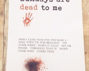 Walking dead bracelet, Zombies, walking dead, TWD, Negan, Daryl, walking dead party favors, walking dead accessories, the walking dead