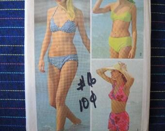 vintage 1970s simplicity sewing pattern 5576 misses bikini size 12-14