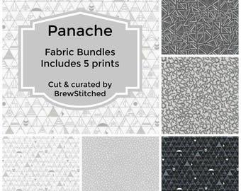 NEW! Fat Quarter Bundle - Fabric Bundle - Fabric by the Yard - Quilt Fabric - Blender Fabric - Gray - Grey Fabric - Robert Kaufman - Panache