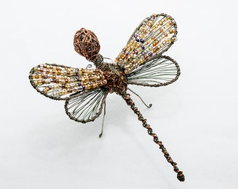 """Dragonfly Art - Copper  Dragonfly - Wire Art - """"Cobre"""" Dragonfly"""