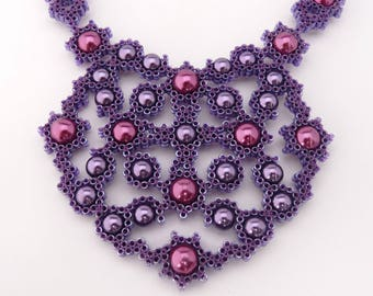 Bead Quilled Lace Necklace Tutorial