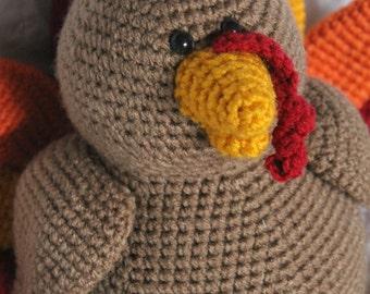 Theodore the Turkey - Amigurumi Plush Crochet PATTERN ONLY (PDF)