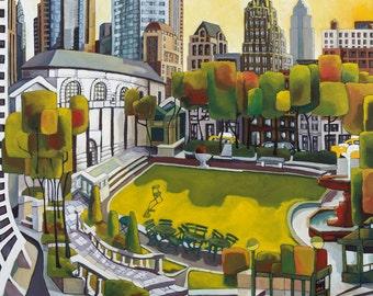 Bryant Park .Fine Art Print.