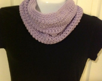 Scarf soft lavender infinity cowl