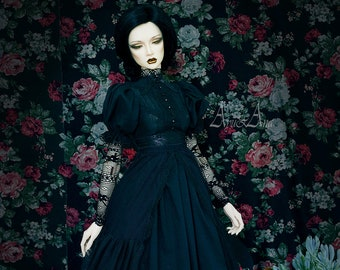 Diamond Heart OOAK handmade dress set for bjd dollfie sd+ dollshe 26F iplehouse eid dollmore clothing clothes historical victorian gothstyle