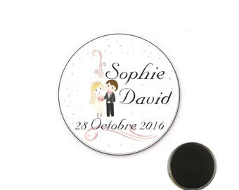 Magnet name wedding size 25 mm