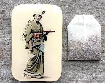 Geisha tea tin