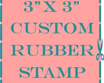 3x3 custom personalized rubber stamp