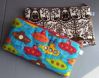 Pencil Case, Stationary case, Zip Pouch, Travel bag, Cosmetic and Toiletries bag, Beauty Storage.