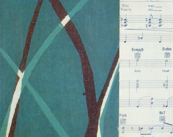 Singing on the Side-Original Mixed Media Painting / 6 x 12