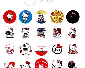 Set of 38 Hello Kitty stickers.