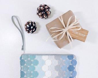 Wool Felt Wristlet Pastel Wallet Clutch Wristlet Nordic Fashion Faux Suede Bag