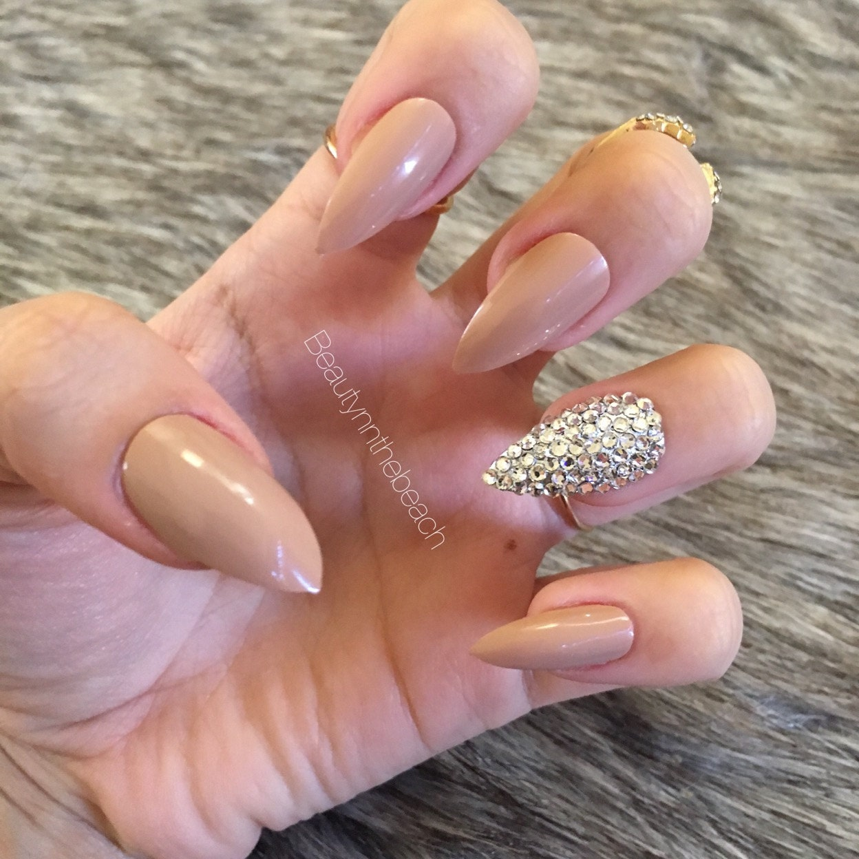 Attractive Stiletto Nails Rhinestones Images - Nail Art Ideas ...